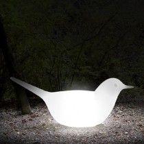 Paloma - een verlichte duif als decoratief object van #Serralunga