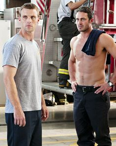 Shirtless Taylor Kinney Fights With Jesse Spencer on Chicago Fire - Us Weekly