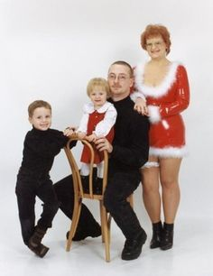 mom in latex sexy mrs claus funny christmas photos awkward family christmas card ideas pics pictures