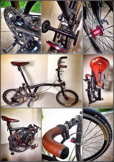 Bullhorn brompton Three Wheel Bicycle, Folding Bicycle, Urban Bike, Commuter Bike, Touring Bike, Brompton, Mini, Bike Run, Classic Bikes