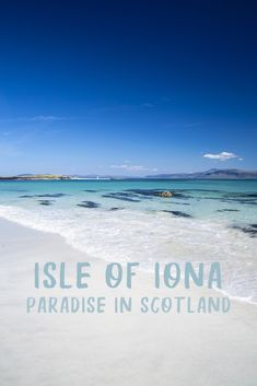 A perfect day trip to Iona, Scotland's paradise island - Lost in the Midlands North Beach, Iona, Scotland Scotland Road Trip, Scotland Vacation, Scotland Travel, Scotland Food, Skye Scotland, Vacation Ideas, Vacation Spots, Greece Vacation, Vacation Places