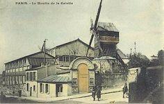 París. Carta postal. Le Moulin de la Galette en París