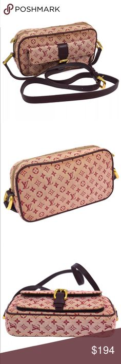 """LV Monogram Juliette MM Crossbody Bag 100% Authentic LV Monogram Juliette MM Crossbody Bag                                 Number:TH 0052 Pocket(Outside): Pocket*1  Pocket(Inside):Pocket*1 Color:red  Size(inch):W 8.3"""" x H 4.3""""x D 1.6"""".       Strap drop: 18.5""""- 23.2""""  Made in France   ******This item in gently use condition as there are normal signs of wear.                *******PLEASE check the photos Louis Vuitton Bags Crossbody Bags"""