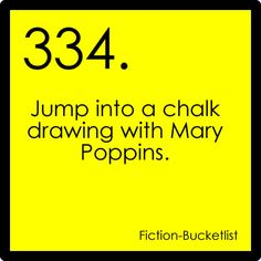 Jump into a Chalk Drawing with Mary Poppins