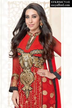 Blisful Karishma Kapoor Straight Suit. For Buy Call or Whatsapp on 08968017642 or 07837409851 or click this link below http://easyafford.com/salwar-suits/1127-blisful-karishma-kapoor-straight-suit.html