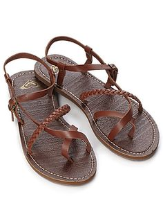 Roxy Sandals ...l am a sandal addict! The one times I wear shoes are for work or hiking.