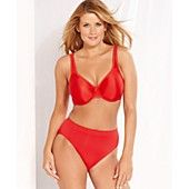 Wacoal Basic Beauty Full Figure Underwire Bra and B-Smooth High Cut Brief