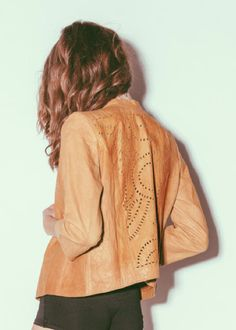 Dakota Leather Jacket in Camel by CLEOBELLA. Available online at WWW.SHOP-SOUVENIR.COM come shop with us!