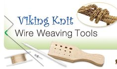"""tools for """"viking knit"""" wire weaving. pulling the knitted tube through the draw plate smoothes out your stitches!  Try with the Habu metal yarns?"""