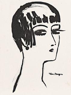 Kees van Dongen - Les Cheveux Courts, 1924