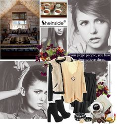 """""""Sheinside.com const: Autumn featuring Nina Doberv."""" by beexmellark ❤ liked on Polyvore"""