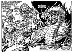 """""""The Valley of the Worm"""" - art by Gil Kane"""