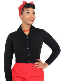 Buy Jenny Cardigan Black from our Women range - Black, Plain, Knitwear, Gothic Glamour - @ Vivien of Holloway 1950s Women, Black Cardigan, Vintage Fashion, Vintage Style, 1950 Style, Rockabilly, 1940s, Knitwear, Fashion Beauty
