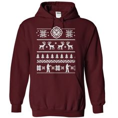 Firefighter Gift. Firefighter Shirt Ugly Christmas Sweater. Funny ...