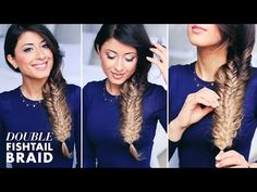 Double Fishtail Braid Tutorial - YouTube <-- another tutorial I love. I do this one to the girls' hair a lot.