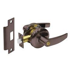 Schlage F51 Flair 605 Fin Keylock Entry Set RH swing