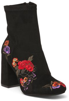 Love! Love! Love! Cuteness overload!  #christmasgift #iftheshoefits #ad #fashion #bootie #floralboot #boots