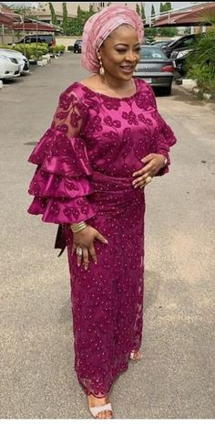 Enchanting aso ebi styles that will inspire you - Opera News Official Stretch Lace Fabric, Lace Dress Styles, Aso Ebi Styles, African Dress, Elegant Woman, Opera News, Asos, Fashion Dresses, Bridal