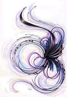 Linie, Copic, Marker, Muster, Abstrakt, Zeichnungen