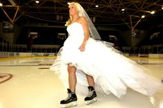 Hockey Bride Hockey Wedding, Atypical, Wedding Pics, Real Weddings, Wedding Decorations, Bride, Formal Dresses, Sports, Photography