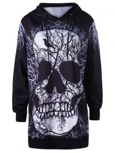 1c50dc84a8018 Gamiss 2017 Newest Print Christmas Halloween Skull Theme Pullover Hoodies  For Women Causal Loose Plus Size Sweatshirts Femme