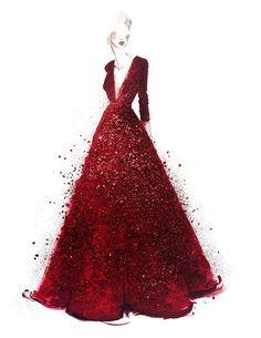 Красные платья сейчас в моде!