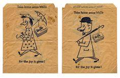 vintage Walls ice cream paper bag