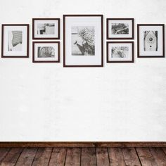Fotomuur Gallery Perfect Walnoot 7 Fotokaders Gallery Wall Layout, Minimalist Artwork, Photo Portrait, Frame It, First Home, Garden Inspiration, Sweet Home, Photo Wall, Bedroom Decor