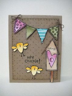 Donna Mikasa - Birdhouse and Build a Banner Card