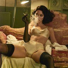 Luxury Lingerie, Vintage Lingerie, Vintage Wear, Retro Vintage, What Lies Beneath, Smoking Ladies, Light My Fire, King Kong, Bad Habits