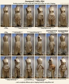How to Make a Bustle Skirt, Cheap and Fast