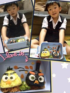 He made the scrap book by himself just to prepare these angry birds
