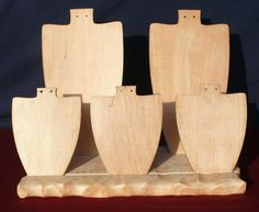 Wooden Jewelry Display Base Only by TZGlass on Etsy, $14.00