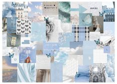 baby blue aesthetic collage