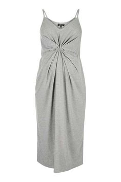 MATERNITY Knot Front Dress.  I like how it has a shape to it, less likely to look like a house.