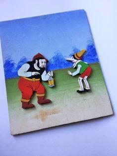 Pinocchio tale relief painting - Quadro a rilievo della fiaba di Pinocchio, Pinocchio e Mangiafuoco di Quieora su Etsy