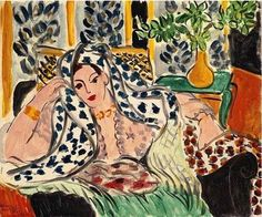 Henri Matisse -Odalisque with black armchair, 1942
