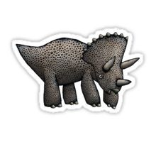 Triceratops cartoon Sticker from Redbubble Cartoon Stickers, Dinosaurs, Tshirt Colors, Wardrobe Staples, Female Models, Classic T Shirts, How To Wear, Stuff To Buy, Girl Models