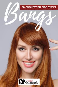 Are you a fan of side-swept bangs? If so, you may want to try this trend by choosing one of these gorgeous side-swept bang ideas in this article. Some of these bangs are even modeled by famous celebrities! Check them out! Casual Hairstyles For Long Hair, Lazy Day Hairstyles, Face Shape Hairstyles, Hairstyles For School, Short Hairstyles For Women, Formal Hairstyles, Wedding Hairstyles, Long Curly Hair, Curly Hair Styles