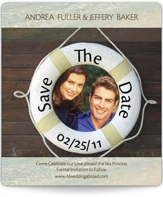 Romantic Cruise Save the Date Magnets