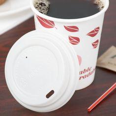 EcoChoice 8 oz. Translucent Compostable Paper Hot Cup Lid - 1000/Case