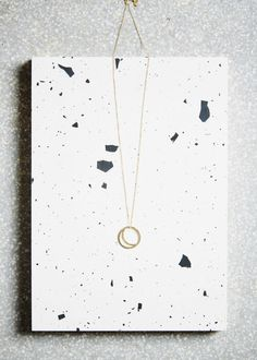 Gold Crescent Lune Necklace by KIND Jewellery | Gather&See