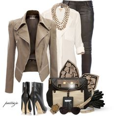 Downtown Missy Brown, created by rockreborn on Polyvore