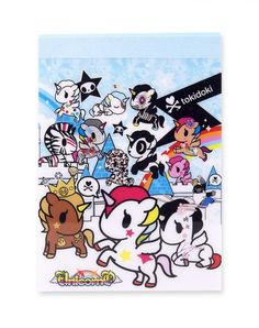 "Unicorno Tokidoki Tear Out Notepad 7"" x 5"" and comes with 160 pages of criminally cute note pages! This notepad also comes with a sticker page with 18 of our most popular Unicornos, and 4 different note page designs to choose from!"