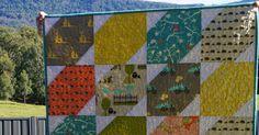 Samelia's Mum: BlueBird Park Baby Quilt : Pre-Cut Friendly {Tutorial}