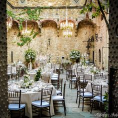 "Distinctive Italy Weddings on Instagram: ""Opening the doors to find this jaw-dropping reception setup nestled in the rolling Tuscan hills in an ancient castle - how enchanting!…"" Italy Wedding, Chandeliers, Table Settings, Reception, Castle, Doors, Table Decorations, Weddings, Instagram"