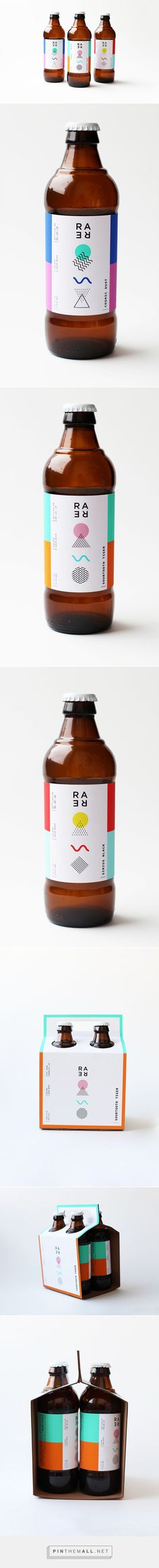 A very different take on beer packaging. It works well for a exclusively sour brewery like Rare Barrel. ///// Rare Barrel - A Sour Beer Co. by Mackenzie Freemire on Behance Branding And Packaging, Beverage Packaging, Bottle Packaging, Pretty Packaging, Ok Design, Label Design, Graphic Design Branding, Retro Design, Package Design