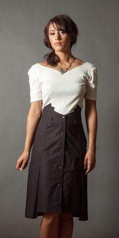 Architectural Skirt 2 by LizzBasingerDesigns on Etsy, $129.00