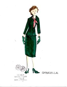 Boeing-Boeing (Gabriella). The Hartford Stage. Costume design by Thomas Charles LeGalley.