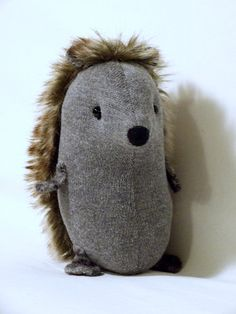 Cute Hedgehog soft sculpture by isCraFT on Etsy